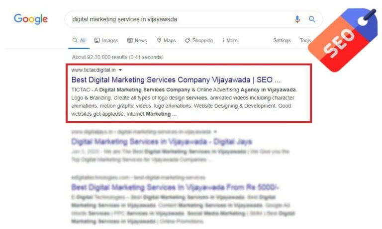Appear On the Front Page of Google, Vijayawada